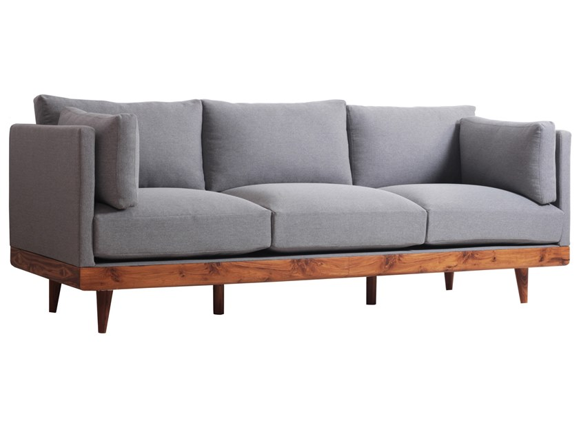 Upholstered 3 seater fabric sofa PRIAMKA | 3 seater sofa by ALANKARAM