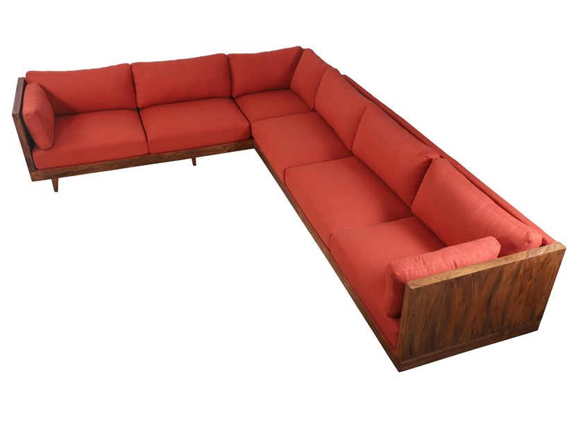 Corner upholstered fabric sofa PRIAMKA | Corner sofa by ALANKARAM