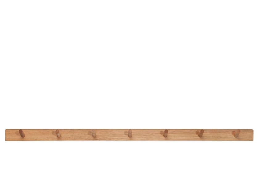 Wall-mounted solid wood coat rack PRIM 7 | Coat rack by designimdorf