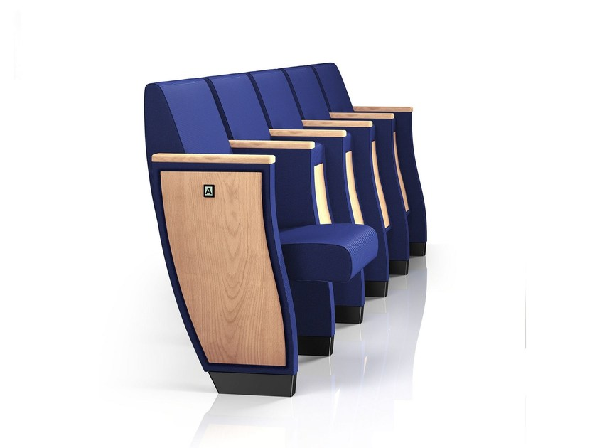 Fabric auditorium seats with writing tablet PRIMA | Auditorium seats by Emmegi