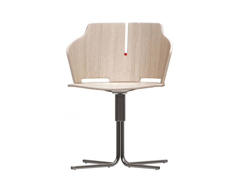 Swivel chair with 4-spoke base PRIMA | Chair with 4-spoke base by Luxy