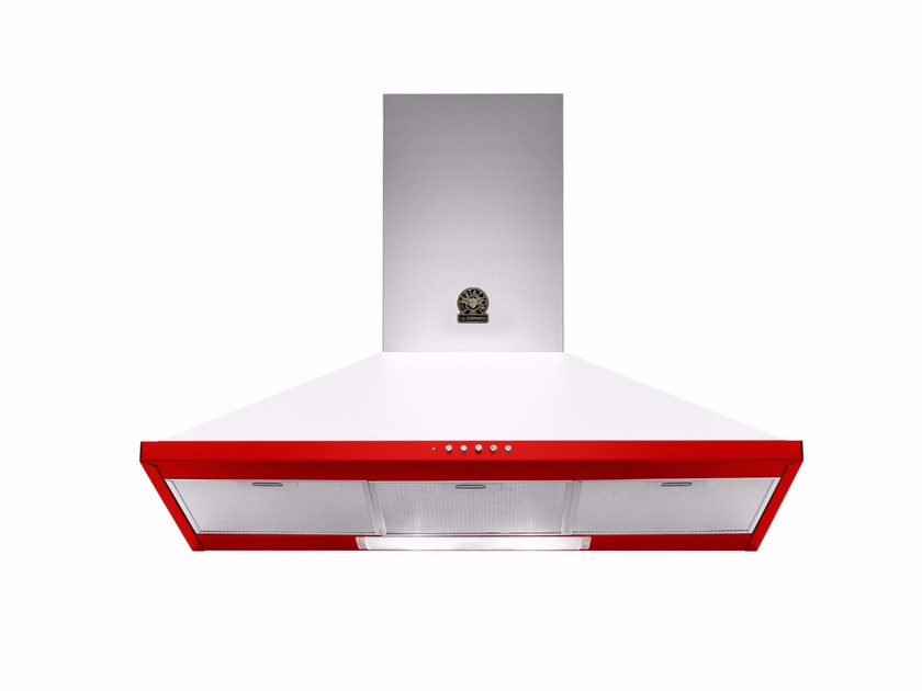 Wall-mounted cooker hood with integrated lighting PRIMA - K90 RI W by Bertazzoni