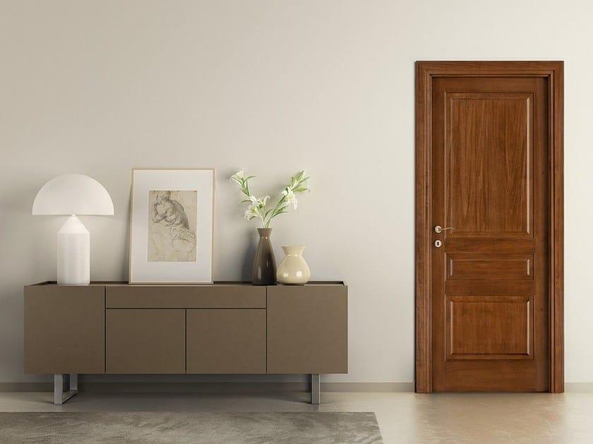 Hinged solid wood door PRIMA by LEGNOFORM