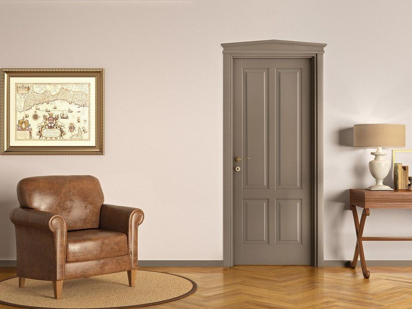 Lacquered solid wood door PRIMA by LEGNOFORM