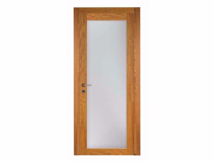 Porta a battente in legno e vetro PRIMA VÌ by Capoferri Serramenti