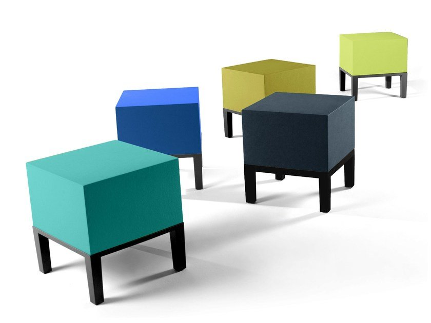 Low QM Foam stool PRIMARY POUF 01 by Quinze & Milan