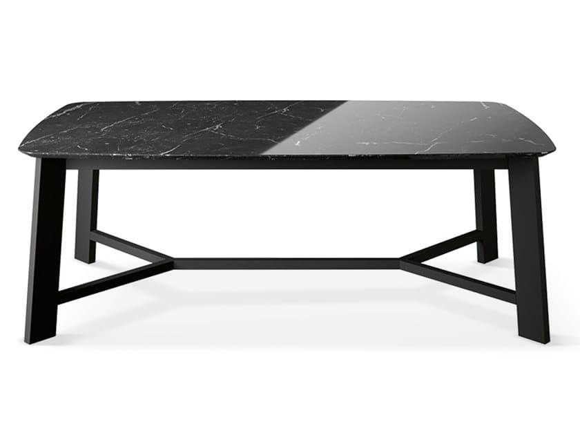 Rectangular marble table PRIMAVERA - GOLD EDITION | Rectangular table by Febal Casa