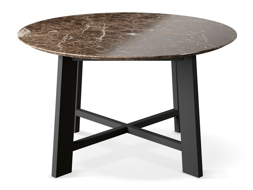Round marble table PRIMAVERA - GOLD EDITION | Round table by Febal Casa