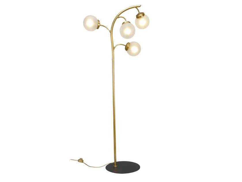 Handmade brass floor lamp PRIMAVERIA | Floor lamp by Patinas Lighting