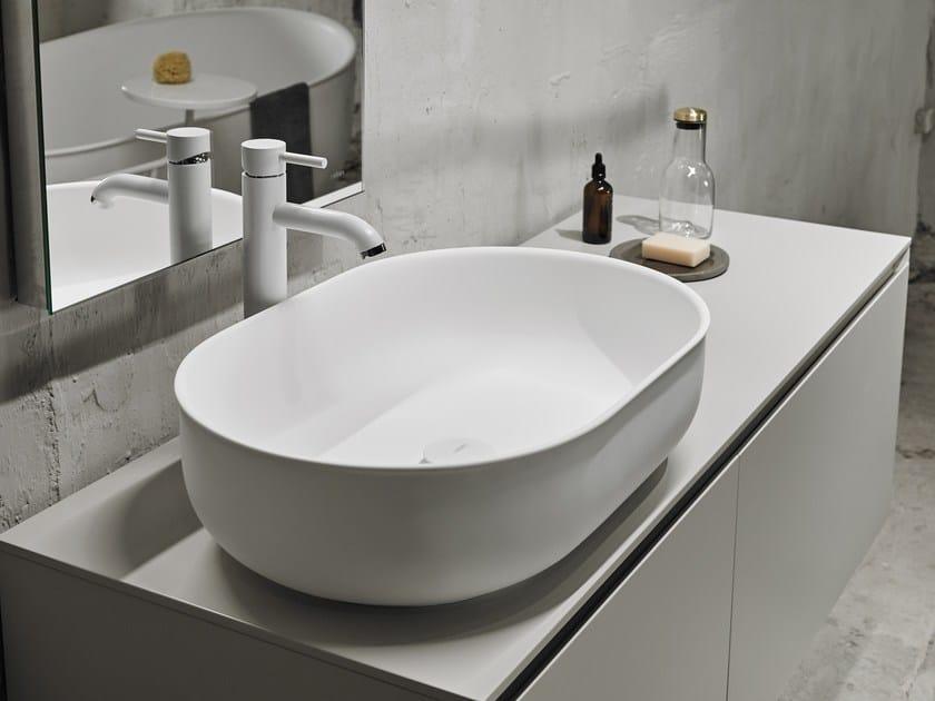 Countertop oval Solid Surface washbasin PRIME   Countertop washbasin by INBANI