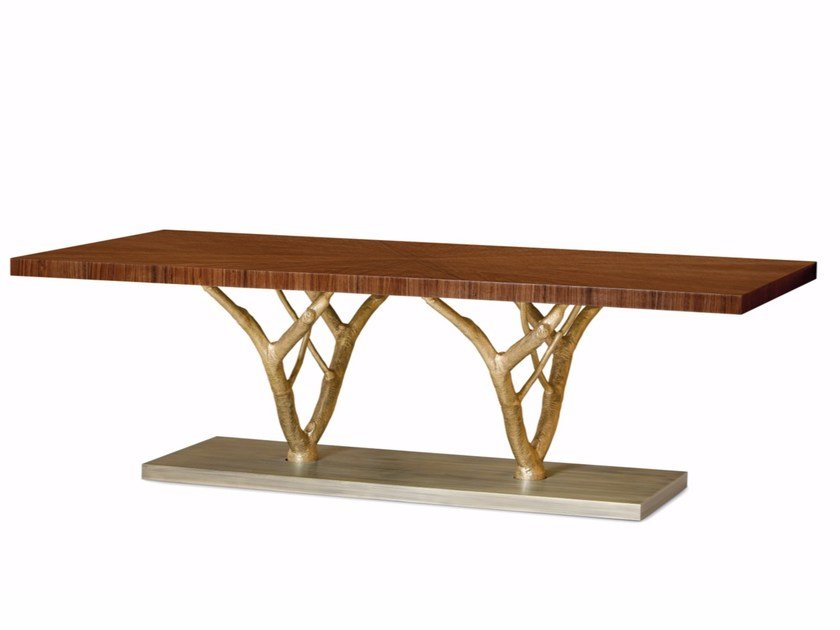 Rectangular walnut dining table PRIMITIVE | Dining table by Ginger & Jagger