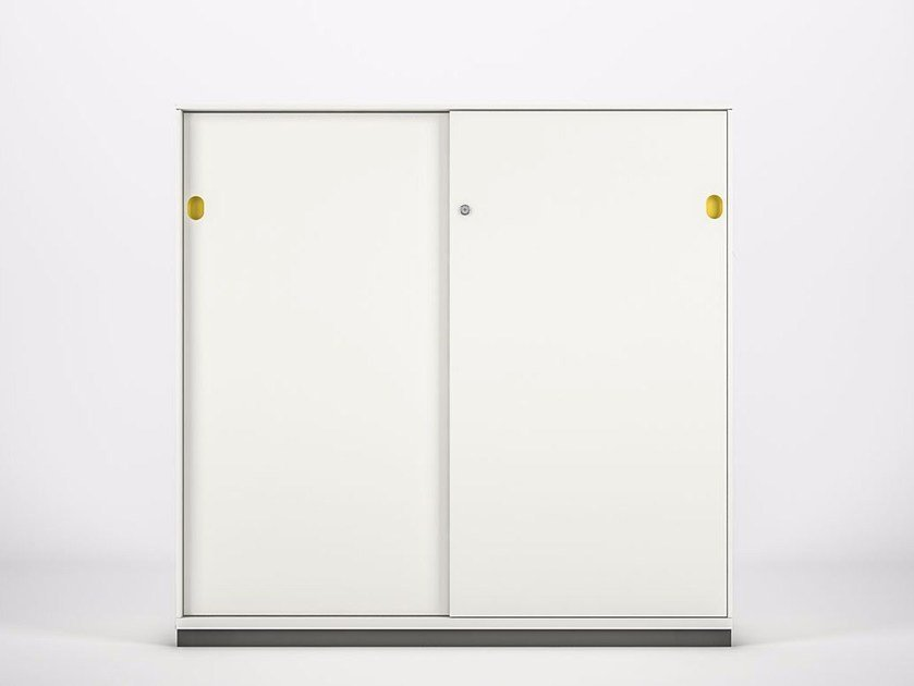 Metal office storage unit with sliding doors PRIMO SLIDING DOORS | Office storage unit by Dieffebi
