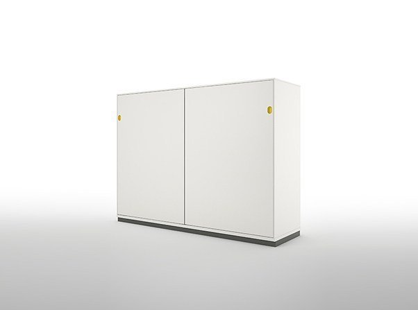 Metal office storage unit with sliding doors PRIMO SLIDING DOORS WITH FLUSH FRONTS by Dieffebi