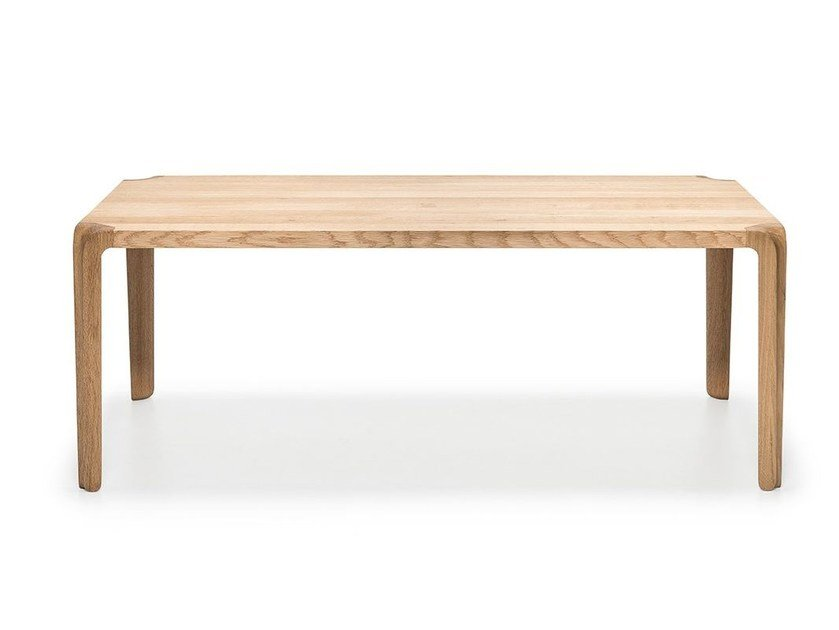 Rectangular Solid Wood Coffee Table For Living Room Primum By Ms