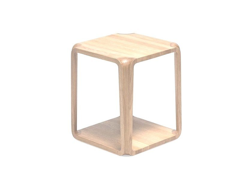 Square coffee table MS&WOOD - PRIMUM SIDE TABLE White Oak by Archiproducts.com