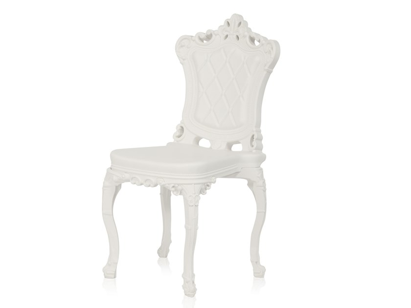 Contemporary style tufted plastic garden chair PRINCESS OF LOVE by SLIDE