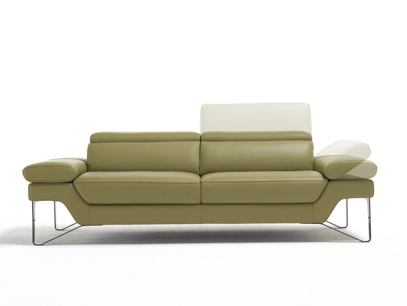 Relaxing 2 seater leather sofa PRINCESS | Sofa by Egoitaliano