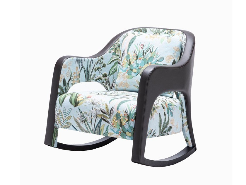 Rocking armchair with armrests PRINCESSE by HUGUES CHEVALIER