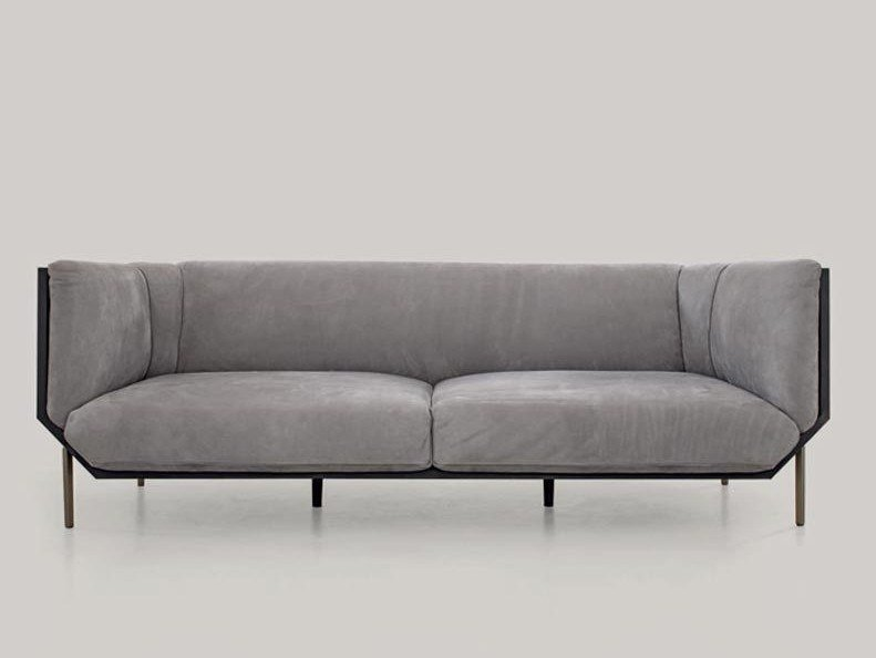 3 seater leather sofa PRISM by Shake