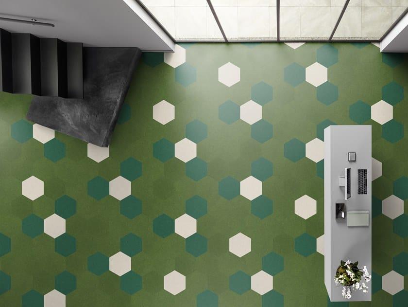 Carpeting with geometric shapes PRISM by Vorwerk Teppichwerke