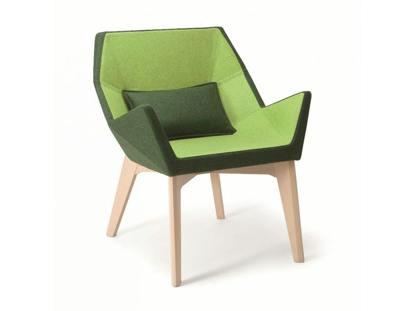 Fabric easy chair with armrests PRISMA | Easy chair by Cizeta