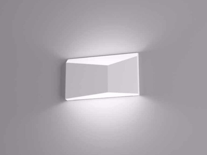 Direct-indirect light wall lamp PRISMA by Marchetti