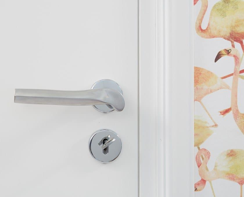 Aluminium door handle with lock PRISMA by NJ Interiors
