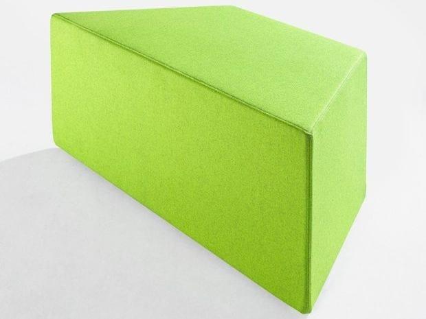 Fabric pouf PRISMA | Pouf by Derlot Editions