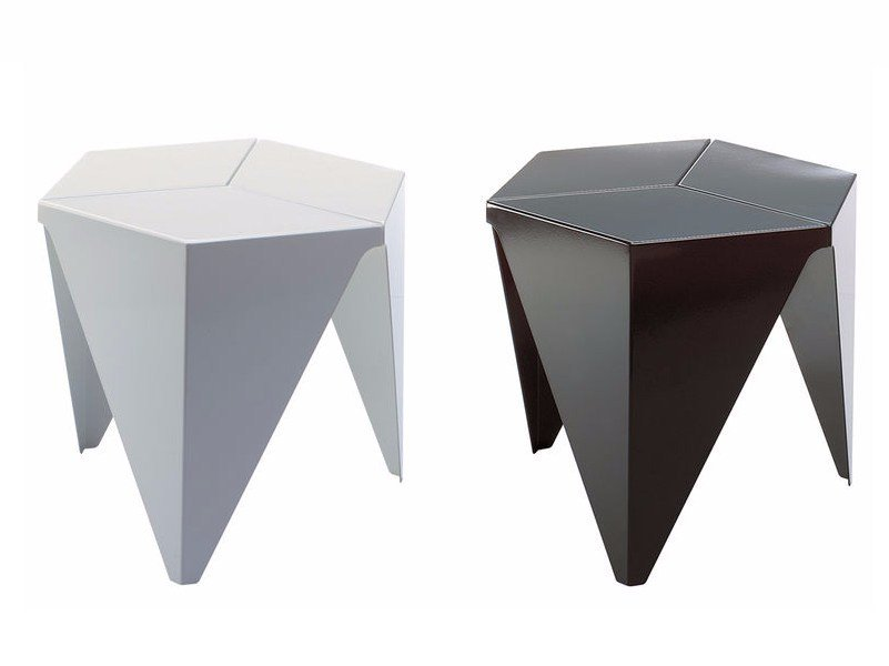 Aluminium coffee table PRISMATIC TABLE by Vitra