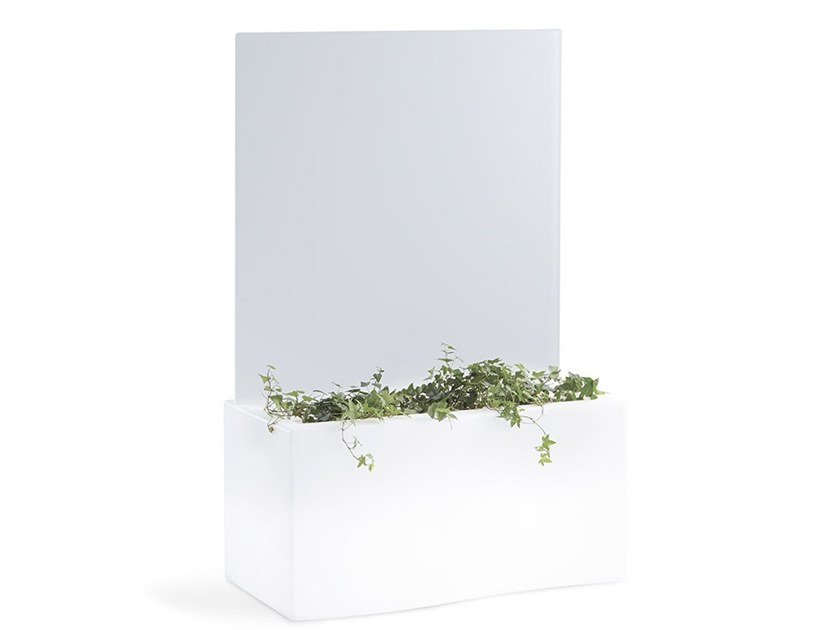 Polyethylene planter / garden partition PRIVE by SLIDE
