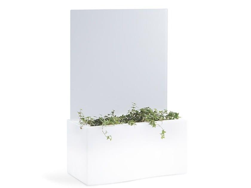 Fioriera / schermo divisorio da giardino in polietilene PRIVÉ by SLIDE