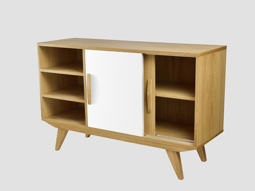 Wooden sideboard with sliding doors PRL BIG | Sideboard by Gie El Home