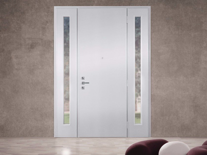 Lacquered glazed MDF safety door SUPERIOR - 16.5079 M17 by Bauxt