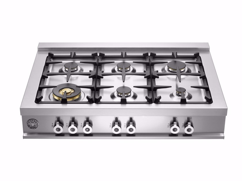 Gas stainless steel hob PROFESSIONAL - CB36 6 00 X by Bertazzoni