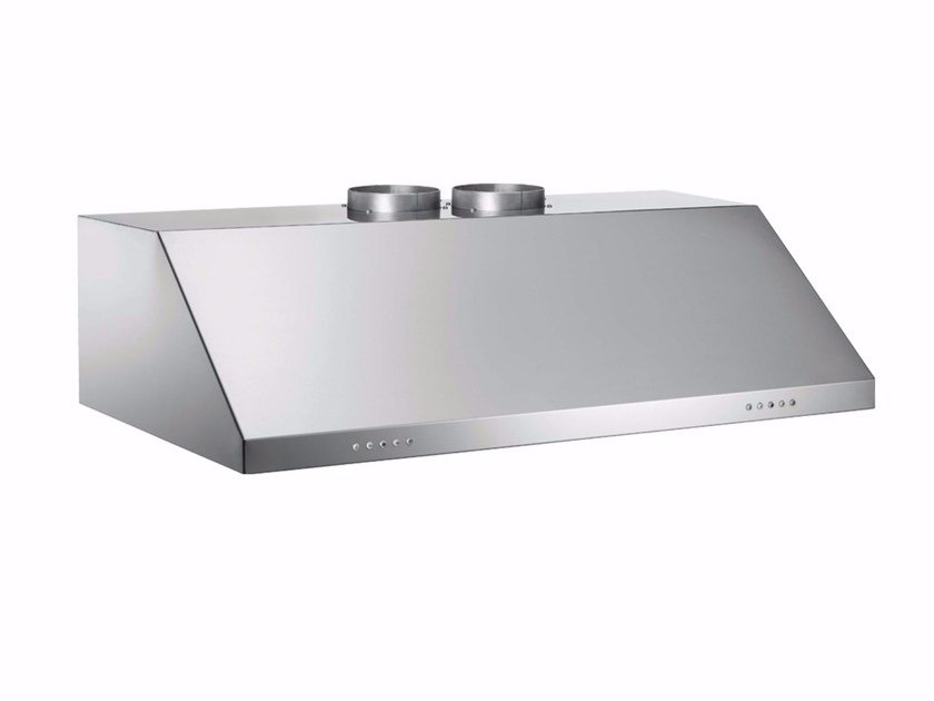Built-in stainless steel cooker hood with integrated lighting PROFESSIONAL - KU120 PRO 2 X A by Bertazzoni