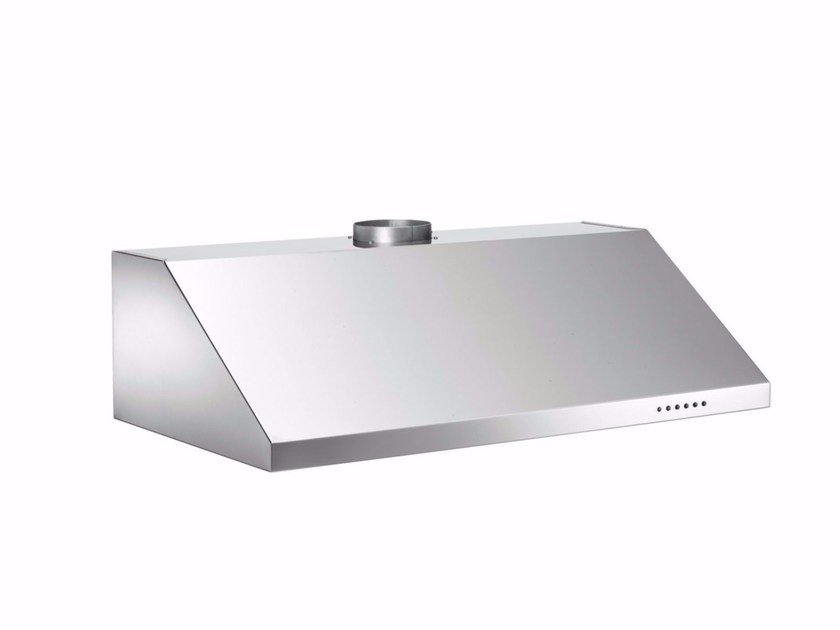 Contemporary style built-in stainless steel cooker hood with integrated lighting PROFESSIONAL - KU90 PRO 1 X A by Bertazzoni