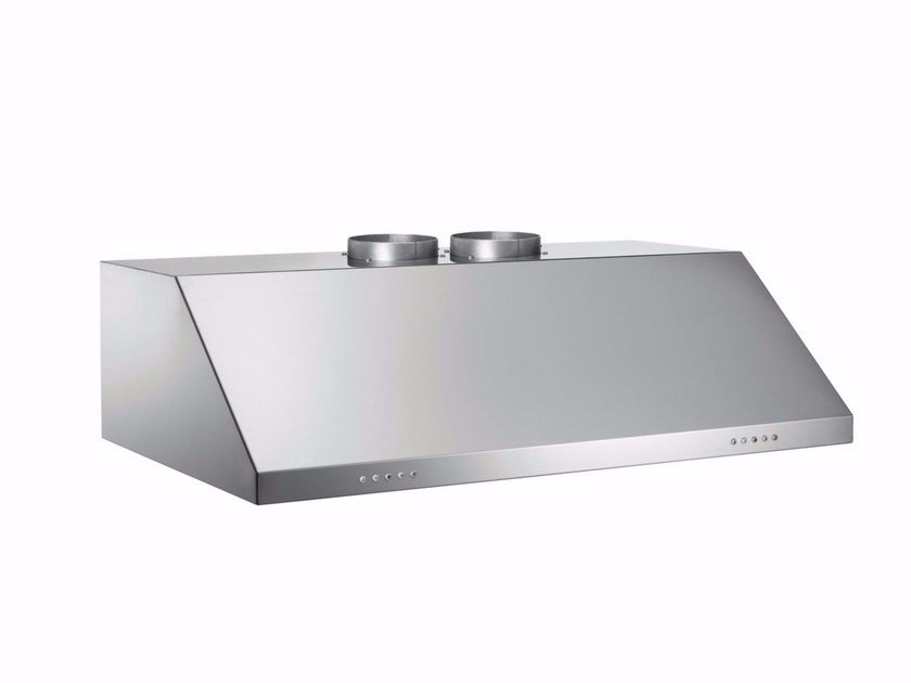 Built-in stainless steel cooker hood with integrated lighting PROFESSIONAL - KU90 PRO 2X A by Bertazzoni