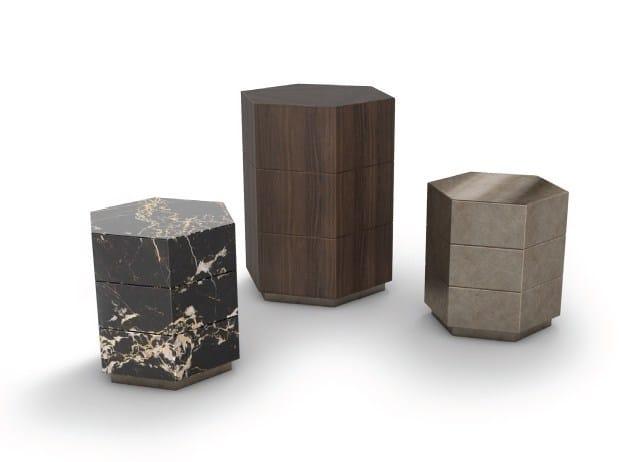 Hexagonal coffee table PROFESSOR PLUM by Paolo Castelli