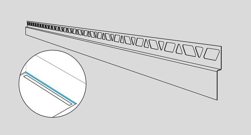 Profilo frontale pavimento-rivestimento KF