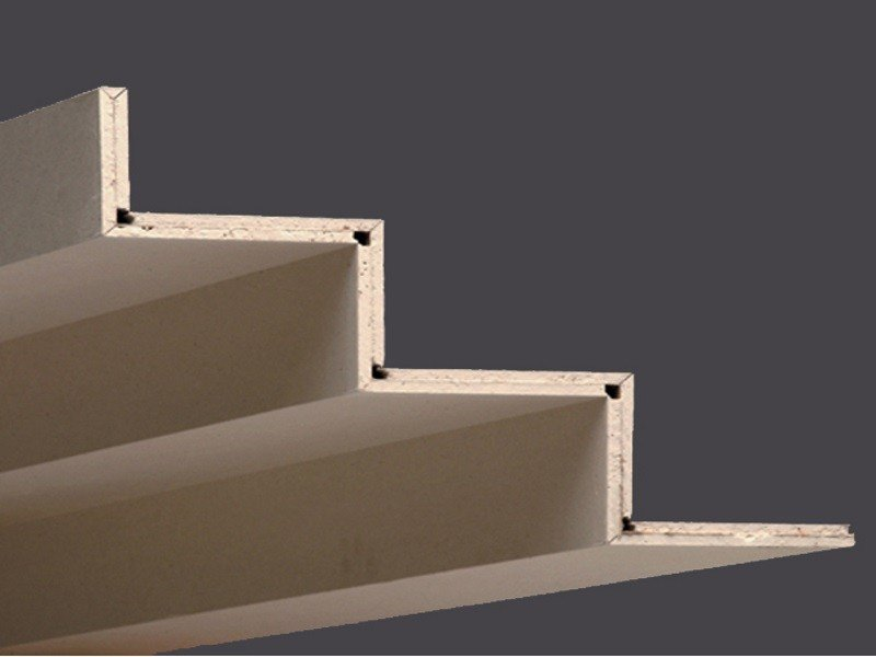 Profiles in plasterboard for creating veils and lower shapes PROFILGIPS THREE STEPS 2.00 M by Gyps