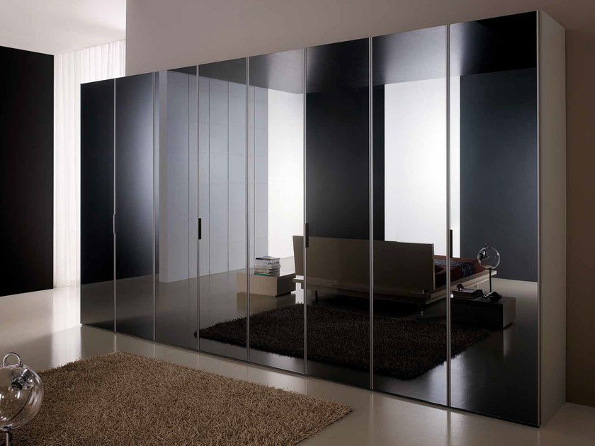 Mirrored glass wardrobe PROFILO by Composit