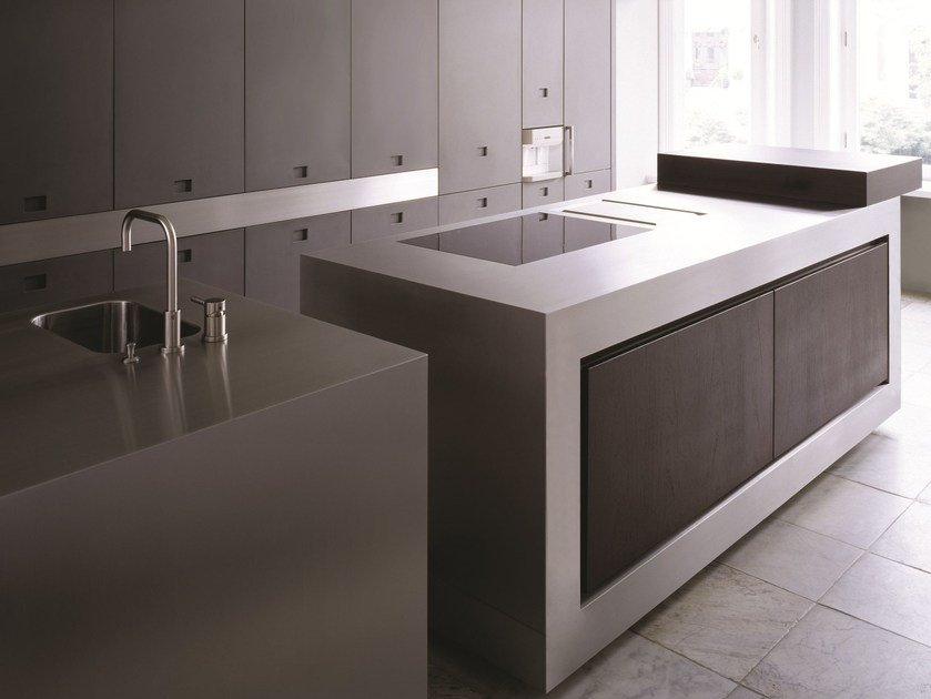 Kitchen with island NPU PROGR.031 by Strato Cucine
