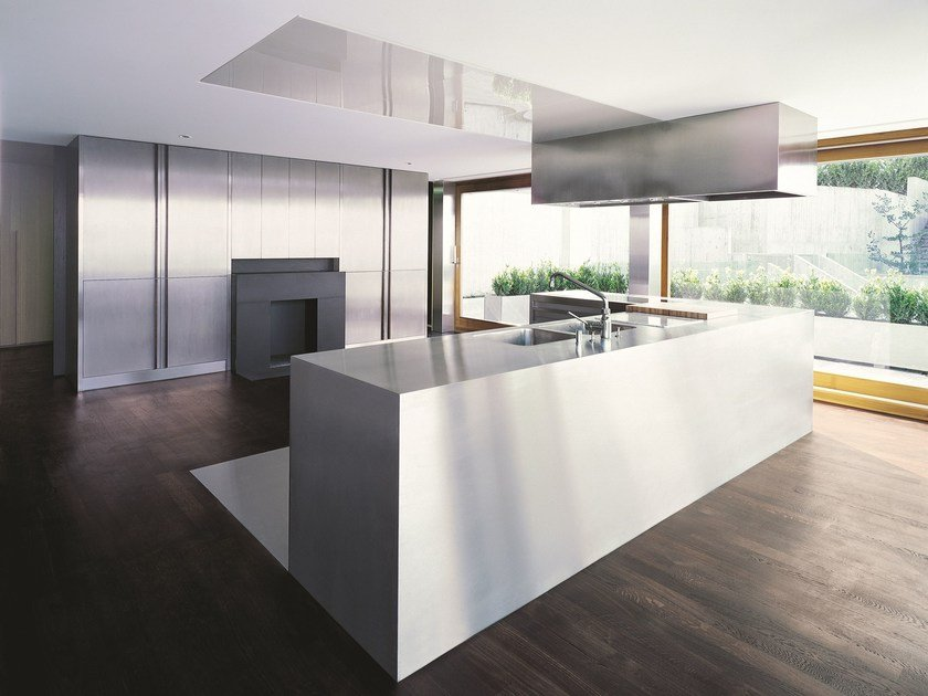 Küche aus Edelstahl NPU PROGR.INX By Strato Cucine