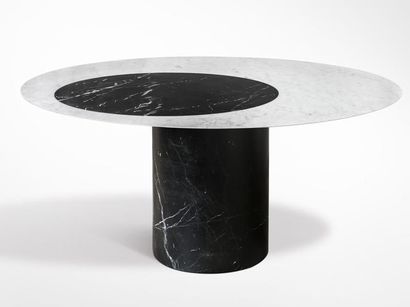 Round marble table PROIEZIONI | Table by SALVATORI