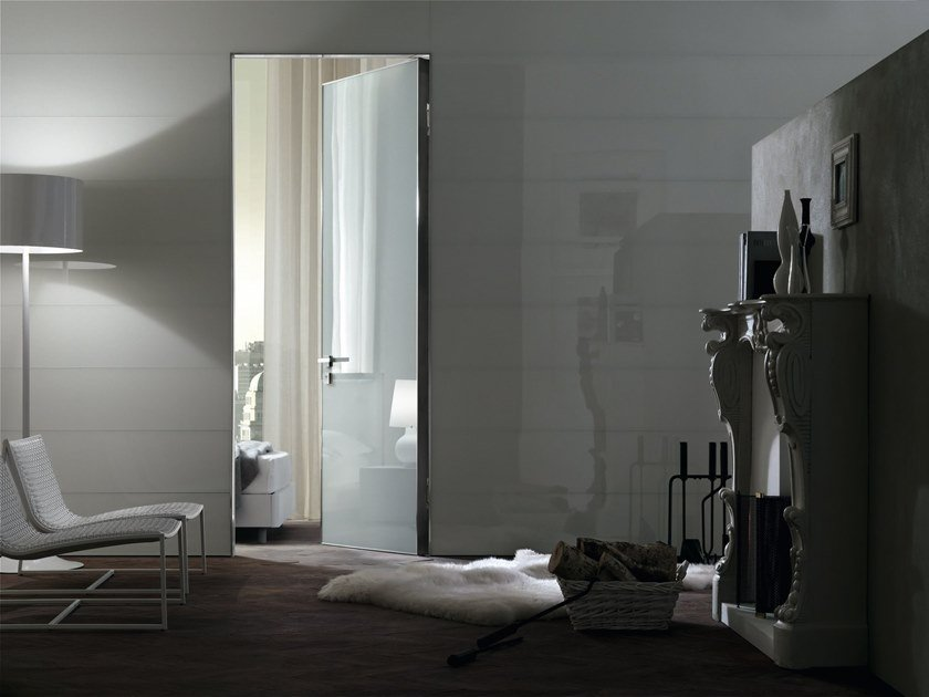 Hinged glass door PROJECT | Glass door by OIKOS VENEZIA