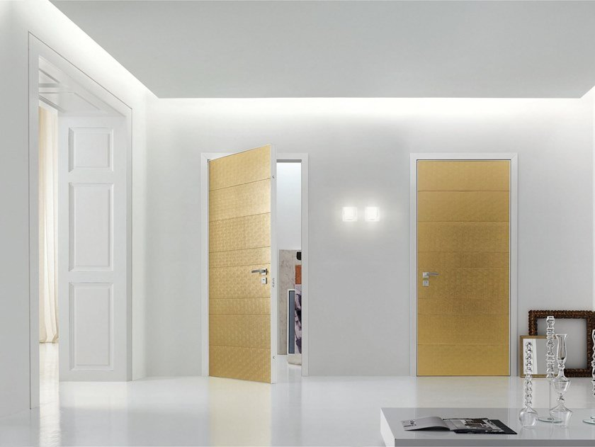 Hinged leather door PROJECT | Leather door by OIKOS VENEZIA