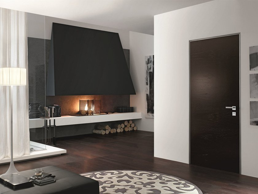 Hinged acoustic door PROJECT | Wooden door by OIKOS VENEZIA