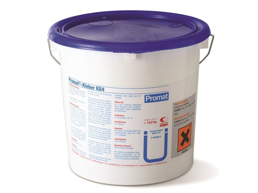 Aqueous dispersion adhesive for high temperatures PROMAT®-K84 by Promat