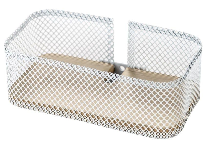 Mensola bagno PROP | Mensola bagno in acciaio inox e legno by EVER Life Design