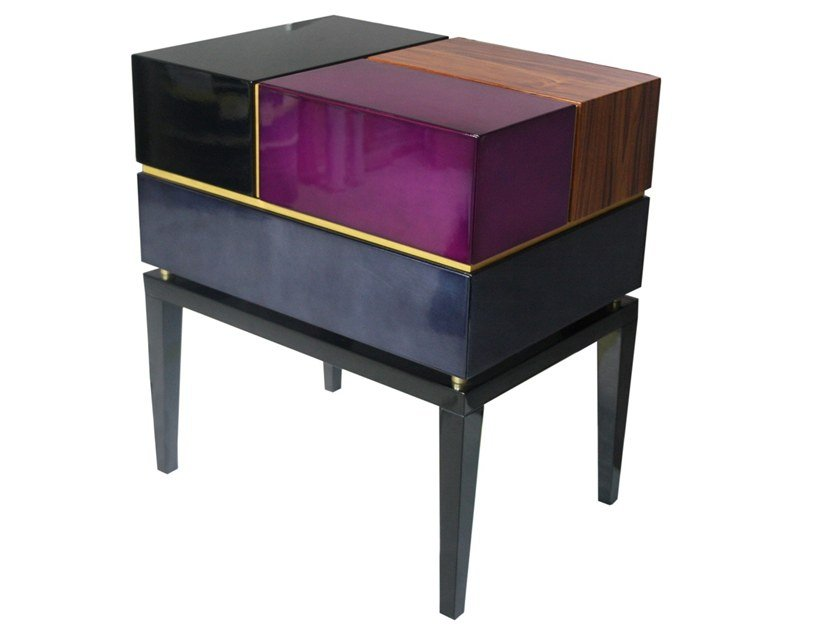 Rectangular wooden bedside table with drawers PROPORTION II | Bedside table by Malabar